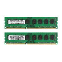 New 8GB 2x 4GB DDR3 1333MHz PC3-10600U Dimm Desktop AMD Memory RAM