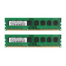100%New 8GB 2x4GB DDR3 1333MHz PC3-10600U Dimm Desktop AMD Memory RAM Kit 8G 8GB