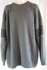 Bachrach Men XL Charcoal Gray Sweater Lambswool Italy