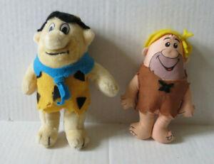 Vintage The Flintstones Fred & Barney  Plush Figures/ toy dolls  (U)