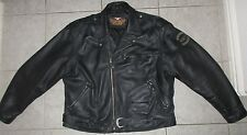 Harley Davidson Mens Leater Vintage Embossed Eagle Metal Badge Jacket 3XL