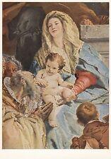 Religious Painting Art Postcard - Giovanni Battista Tiepolo - Mary and Jesus