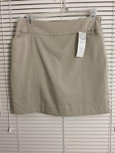 NEW CHARTER CLUB Pant Shop CC Golf Skort Size 8 Color Sand Pockets Front Women's