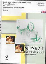 NUSRAT FATEH ALI KHAN VOL 21 - LIVE IN CONCERT U.K (1983) FREE UK POST