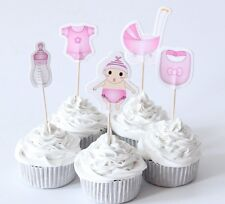 BABY SHOWER IT'S A BOY | IT'S A GIRL CUPCAKE TOPPERS | FOOD PICKS PINK OR BLUE