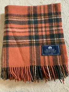 Bronte By Moons Pure New Wool Antique Royal Stewart Check Warm Knee Rug Throw