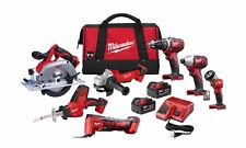 Milwaukee M18 18-Volt Lithium-Ion Cordless Combo Kit (7-Tool) w/ 1 tool bag