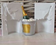 3D CHAMPAGNE BOTTLE IN BUCKET SILICONE MOULD FOR CAKE TOPPERS CHOCOLATE ETC
