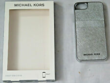 Michael Kors Saffiano Leather Pocket Case for iPhone 8 & 7, Silver