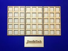 Laser cut MDF Set of 3 Warhammer Movement Tray (5x3)20mm Infantry Bases Skirmish