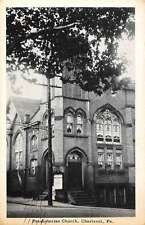 Charleroi Pennsylvania Presbyterian Church Street View Antique Postcard K62641