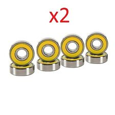 Abec 7 Skateboard Bearings for Deck and Hardware 2 Set of 8 Pcs Yellow