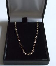 Hallmark 9Ct Gold 2.6 x 1.7 Oval Belcher Necklet Chain 22 Ins Long Lobster Clasp