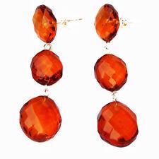 Butterfly Amber Sterling Silver Fine Earrings
