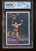 Bill Laimbeer RC 1981-82 Topps #74 Detroit Pistons Rookie GEM MINT 10