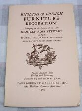 STANLEY ROSS STEWARD Estate, PARKE-BERNET GALLERIES, NY 1960, Catalog #1952