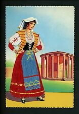 Embroidered clothing postcard Artist Gumier Italy woman costumes Romani #20