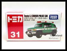 TOMICA #31 TOYOTA FJ CRUISER POLICE CAR 1/66 TOMY 2015 NOV NEW MODEL DIECAST CAR