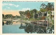 Florida, FL, Fort Myers, Caloosahatchie River 1920's Postcard