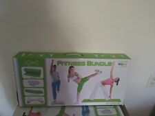 New in Package 4 In 1 Fitness Bundle Wii Fit Green Bag Mat White Socks only one