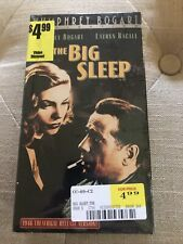 New The Big Sleep Vhs Wb 2000 Film Noir Humphrey Bogart Lauren Bacall Htf Sealed