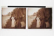 Mariage Les mariés Photo Plaque Stereo6x13cm Vintage