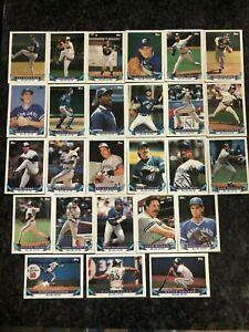 1993 TOPPS Toronto Blue Jays Team Set (26 cards)