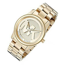 New Michael Kors MK5786 Women's 38mm Case Runway Gold-Tone Stainless Steel Watch