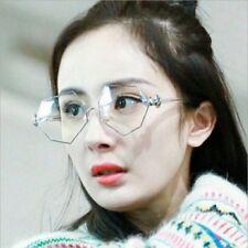 2018 Fashion Plain Glasses Women Clear Mirror Metal Frame Men Polygon Eyewear