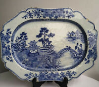Serving Plate Lobbed Porcelain Export Kangxi (1662-1722) China Qing dynasty