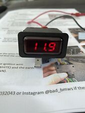 Bmw E30 Modified OEM Voltmeter Dashboard Centre Console Switch Red LED Display