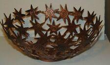 "Tobin James Cellars 11"" Star Antiqued Copper Finish Bowl NWT"