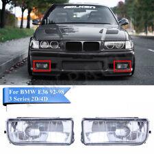 2 For BMW E36 92-98 M3 318 325 Bumper Driving Fog Lights Clear Lens Housing Case