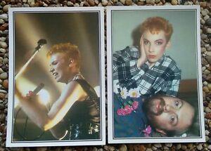 EURYTHMICS + ANNIE LENNOX SMASH HITS 85 Sticker Cards 45-46 Figurine Panini 1985