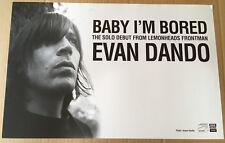 Lemonheads EVAN DANDO Rare 2002 PROMO POSTER for Baby CD USA seller MINT 11 x 17