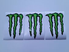 """5 Set 5x MONSTER Energy Drink 4"""" Sticker Decal Motorcycles Cars Trucks 4x4 M1"""