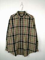 Vintage Mens Shirt Northwest Territory Size M Multi Long Sleeve 100% Cotton Top