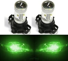 LED 30W 12190 5200 PY24W Green Two Bulbs Light Turn Signal Replace Show Use