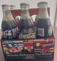 Coca-Cola 6 Pack Glass Bottles - 1996 Atlanta Olympics