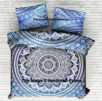 Twin Mandala Duvet Cover Set Cotton Quilt Cover Indian Boho With Pillows Cover