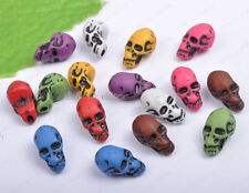 20Pcs Mixed colors acrylic skull charms Beads 12mmX23mm DIY Findings