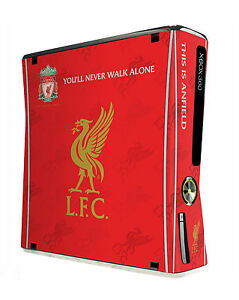 Xbox 360 Slim Console Skin Sticker Liverpool Football Club Official Reds New