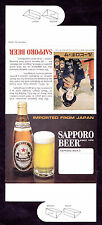 6 SAME Sapporo Beer Table Tents Japan 1907 Advertising Geisha  Commodore Perry