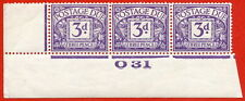 "SG. D14. R14. 3d dull violet. A superb UNMOUNTED MINT "" control O31 imperf ""."