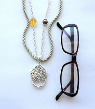 Eye Glass Holder Beaded Adjustable Necklace Chain Dangle Photo Pendant Charm