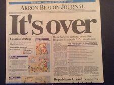 Akron Beacon Journal End of Desert Storm War February 28, 1991