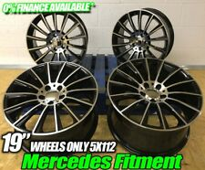 "19"" Twist Alloy wheels Black polished to fit Mercedes A CLA B C E CLASS"