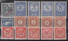 ÖSTERREICH: * Lot 15 alte Portomarken Falz-/Haftspur ansehen bieten (FZB-216#2)
