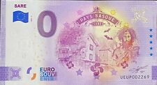 BILLET 0  EURO SARE PAYS BASQUE FRANCE ANNIVERSARY  2021 NUMERO DIVERS