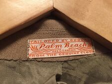 Vintage US Army Palm Beach Brooks Tan Dress Uniform Suit Jacket. Size 38 R